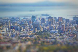 tilt shift de Cape Town