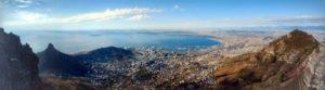Vista panorâmica de Cape Town no topo da Table Mountain