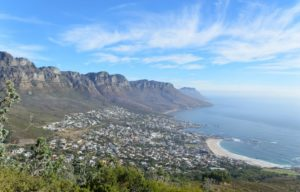 Vista de Camps Bay na subida da Lion's Head