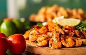 fotografia de gastronomia festival do camarão