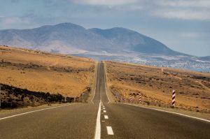 Estradas do deserto do Atacama no Chile
