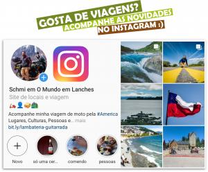 Gosta de Viagens? Acompanhe o Perfil O Mundo em Lanches no Instagram :)