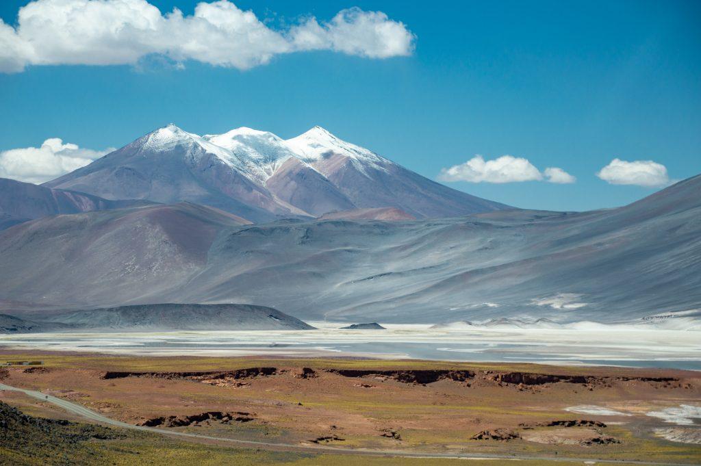 Andes, Chile. Paisagens da América do Sul