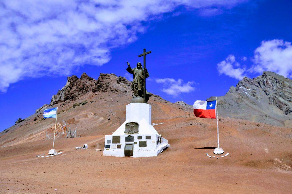 Cristo redentor divisa Argentina e Chile, Viagem pela América do Sul