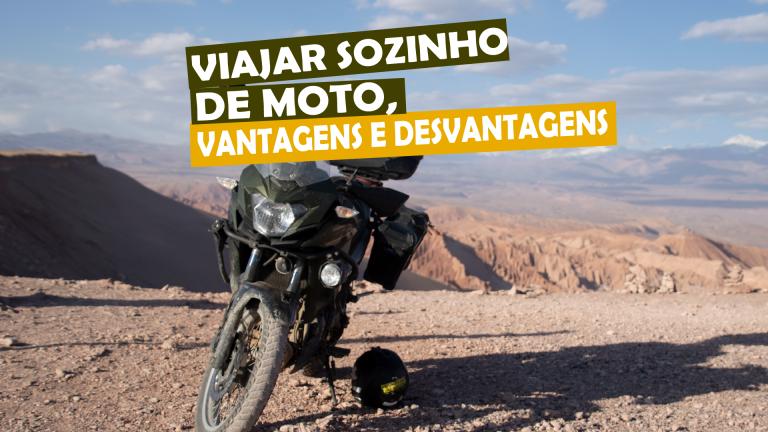 Viajar sozinho de moto, vantagens e desvantagens
